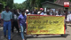 Sabaragamuwa University students engage in a protest