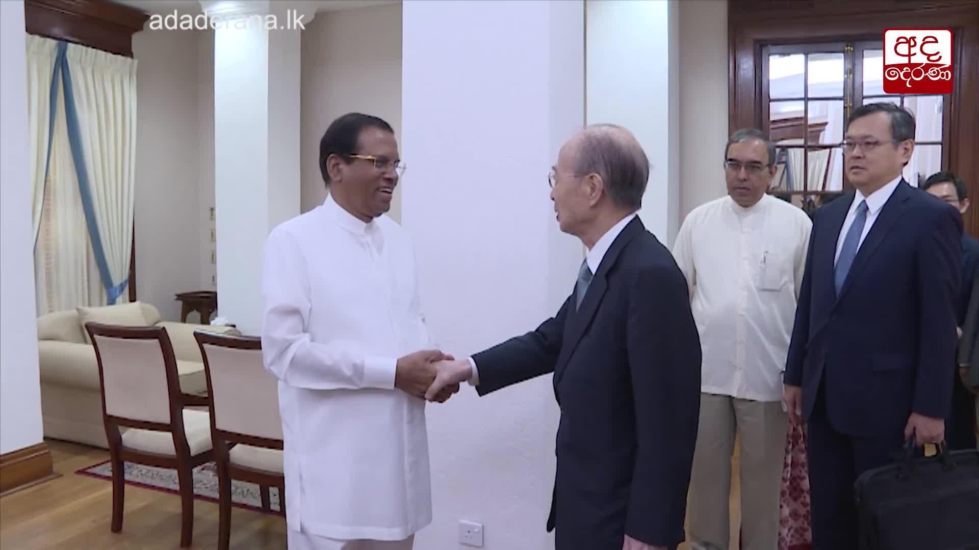 President meets Japanese peace envoy Yasushi Akashi