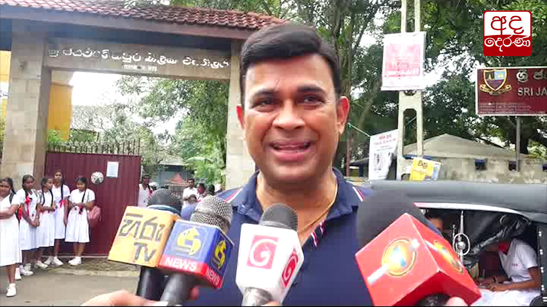 MP Ranjan Ramanayaka sits for G.C.E. O/L Exam