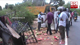 Lorry topples on road in Dambulla