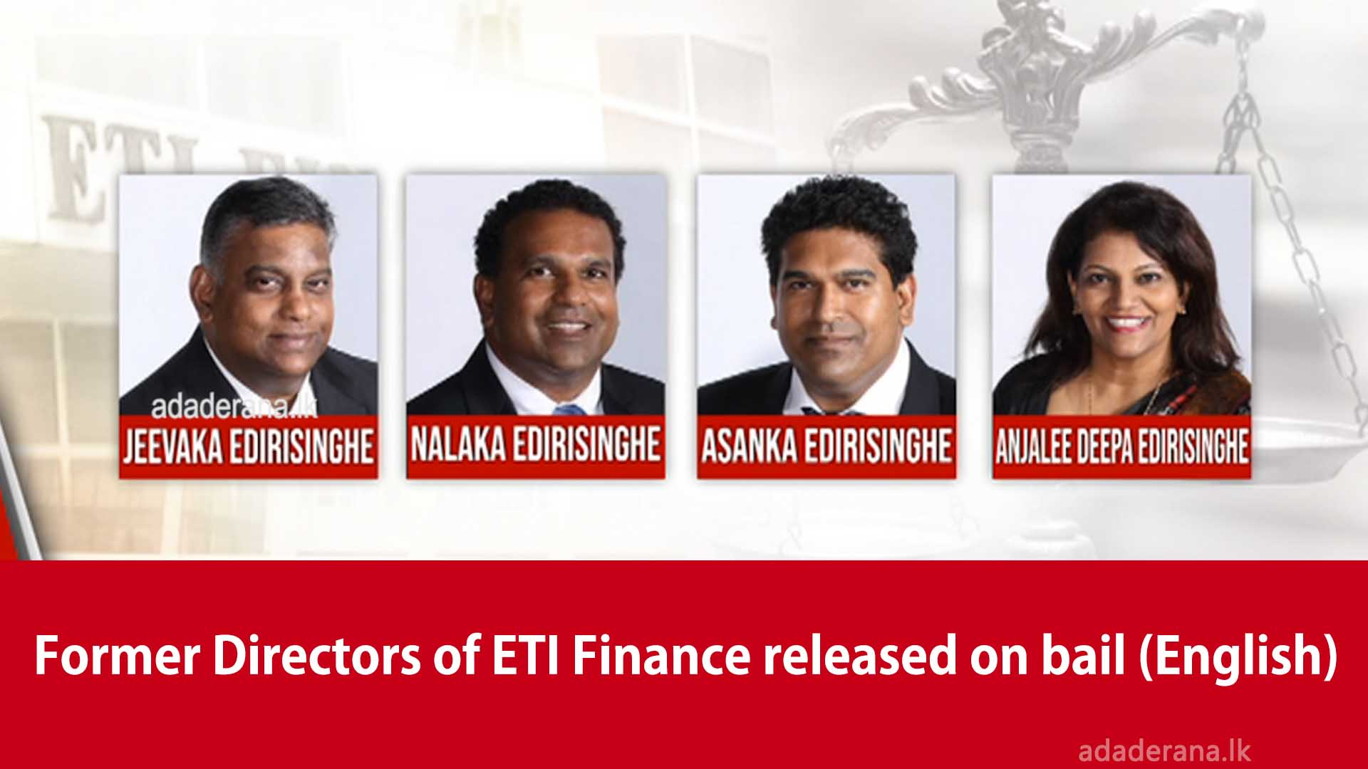 Former Directors of ETI Finance released on bail (English)