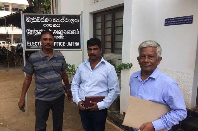 புதிய தமிழ்க் கட்சிகளின் கூட்டணி உள்ளுராட்சி தேர்தலுக்கான கட்டுப்பணத்தை செலுத்தியது