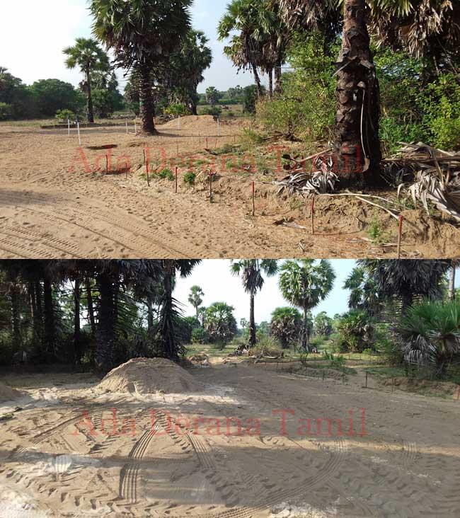 கண்ணிவெடிகள் அகற்றப்படாத பகுதிகளில் சட்டவிரோதமாக மணல் அகழ்வு (படங்கள்)