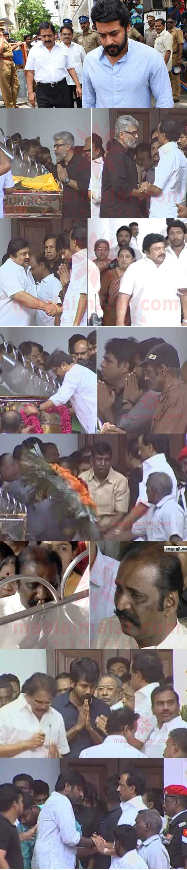 கருணாநிதி மறைவு - தென்னிந்திய திரைப்பட துறையினர் அஞ்சலி