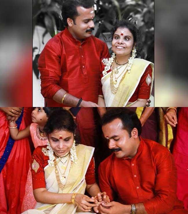 மிமிக்ரி கலைஞரை மணந்த பிரபல பின்னணி பாடகி!