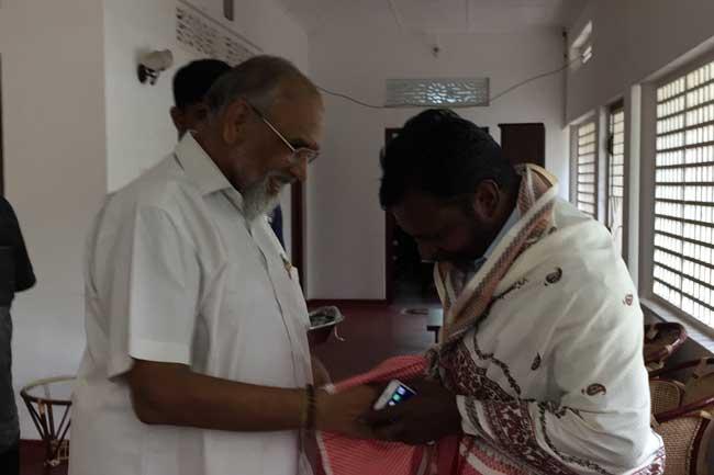 தொல் திருமாவளவனை சந்தித்த விக்னேஸ்வரன்
