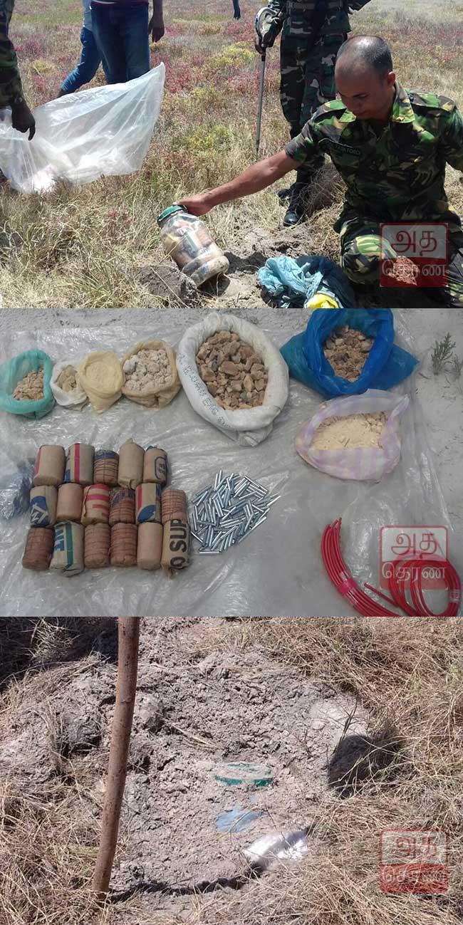 சிறுத்தீவு பகுதியில் பெருமளவு அபாயகரமான வெடிபொருட்கள் மீட்பு