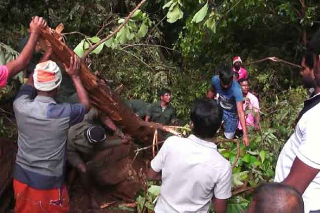 நுவரெலியா மாவட்டத்தில் 92 பேர் இடம் பெயர்வு