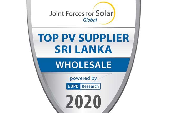 2020 இல் இலங்கையின் முதல்நிலை Solar தயாரிப்புக்களின் (PV) விநியோகஸ்தராக Brantel Lanka சான்றளிக்கப்பட்டது