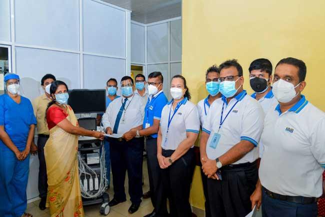 உங்களுக்காகவே நாம் திட்டத்தின் கீழ் Ultrasound Scannerஐ IDH மருத்துவமனைக்கு அன்பளிப்பு செய்த HNB