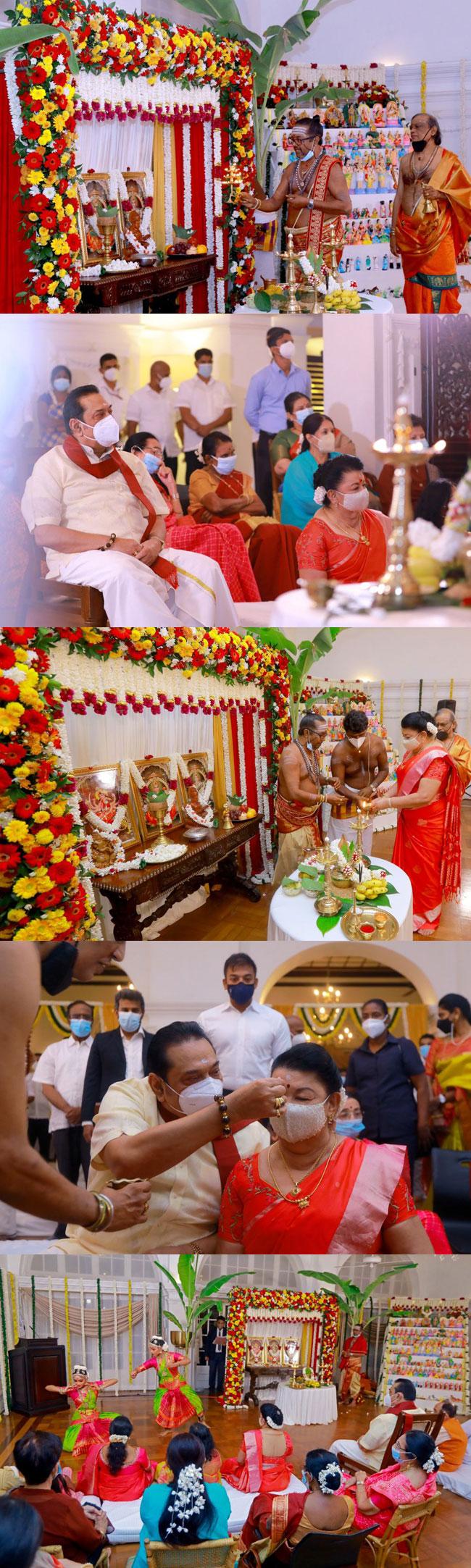 அலரி மாளிகையில் நவராத்திரி விழா!