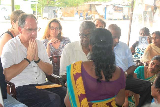 ஐ.நா. விசேட அறிக்கையாளர் காணாமல் ஆக்கப்பட்டவர்களின் உறவுகளை சந்தித்தார்