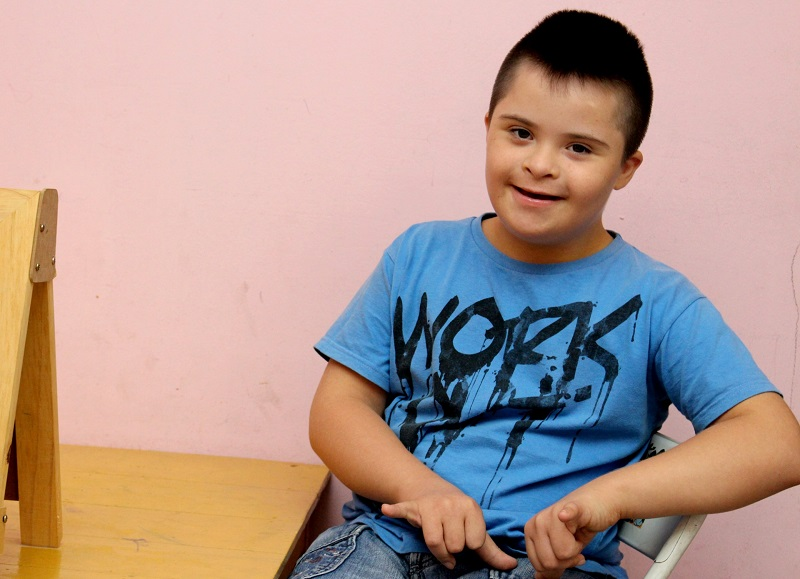 Young boy with Down's Syndrome