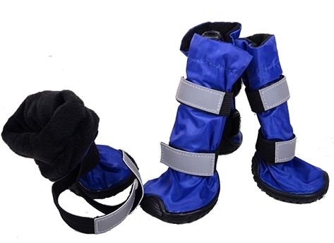 blue Hi-Toppers tall dog boots