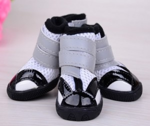 white Sporthos dog booties