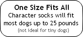 cartoon character dog socks