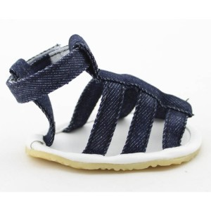 Denim dog sandals for big and small dogs