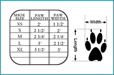 dog duck slipper size chart