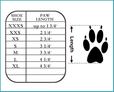 guardian gear boots size Chart