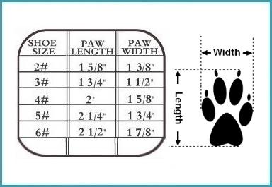 sandals size chart
