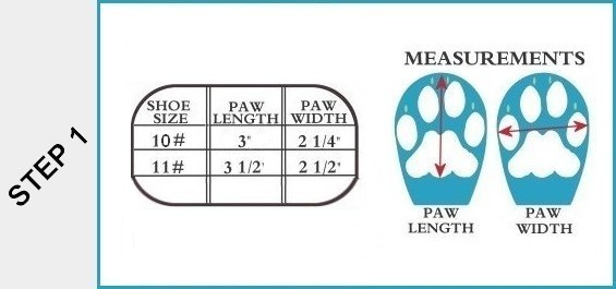 Dog Boot Size Chart