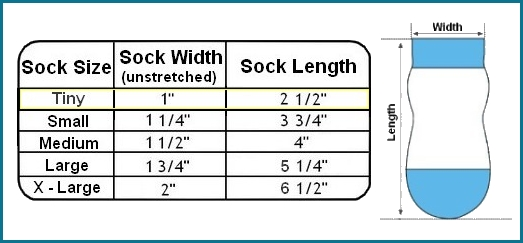 dog sock size chart