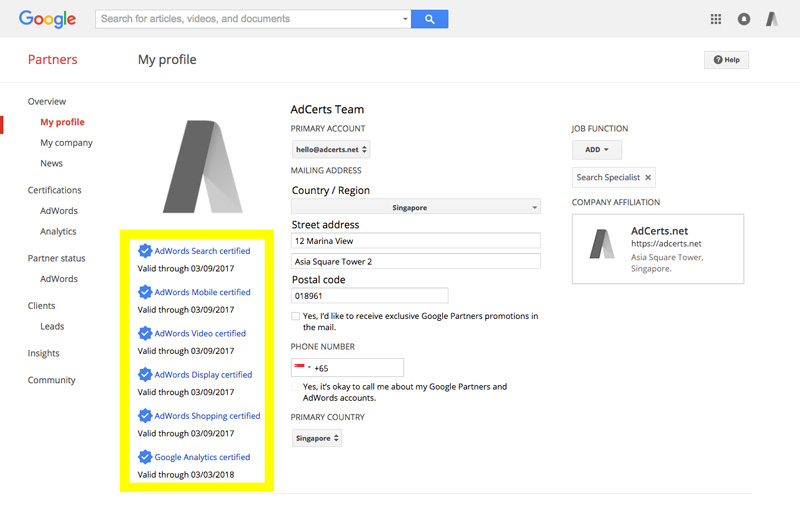 adwords-certification-google-partners-my-profile-certified