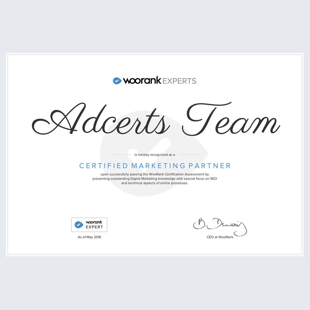 Certified WooRank Expert AdCerts Team
