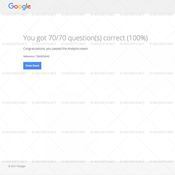 100% CORRECT ANSWERS Google Analytics Exam Answers
