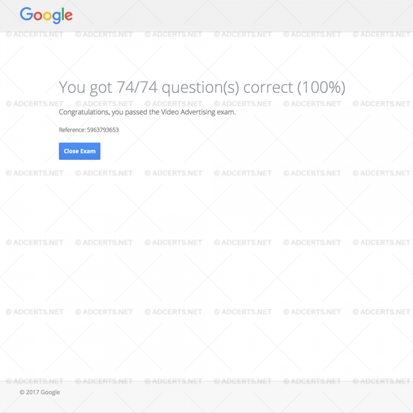 100% CORRECT ANSWERS Google AdWords Video Exam Answers