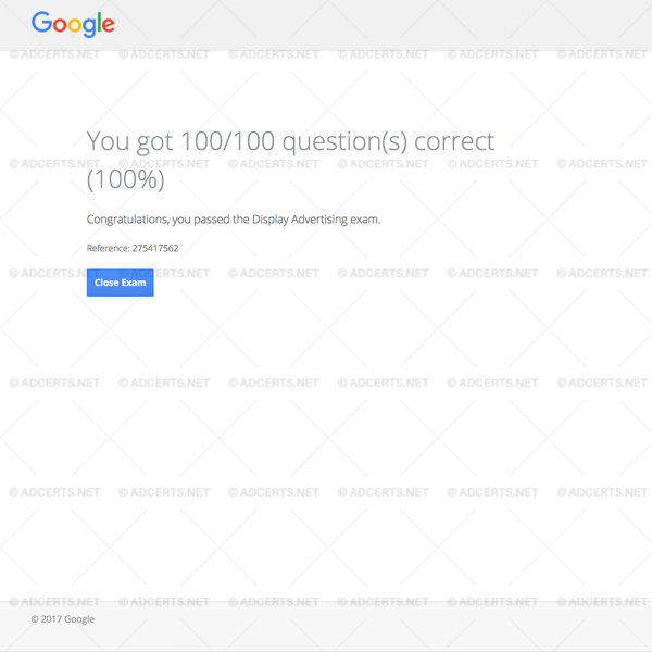 100% CORRECT ANSWERS Google AdWords Display Exam Answers