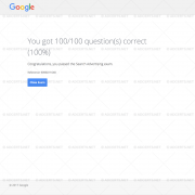 100% CORRECT ANSWERS Google AdWords Search Exam Answers