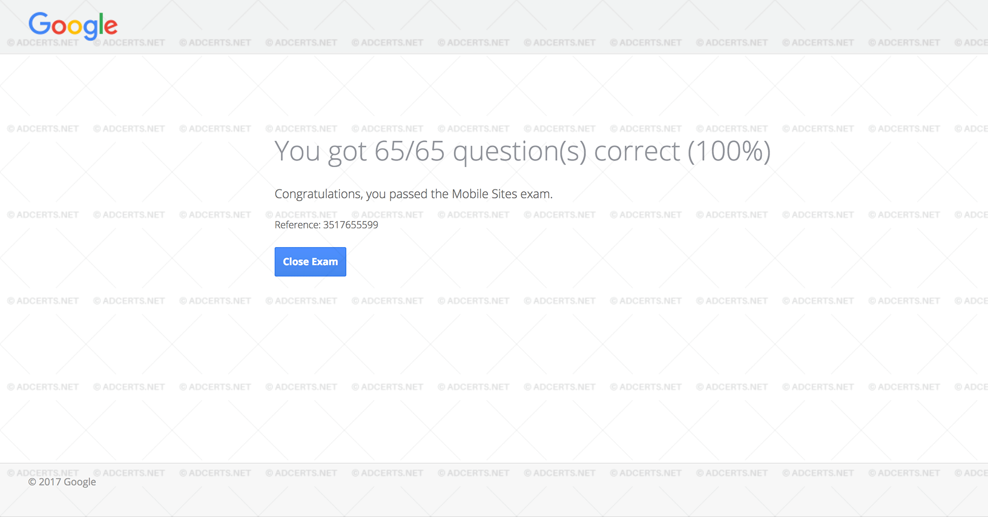 100% PASSING SCORE - 100 of 100 CORRECT ANSWERS Google Mobile Sites Certification Exam Answers