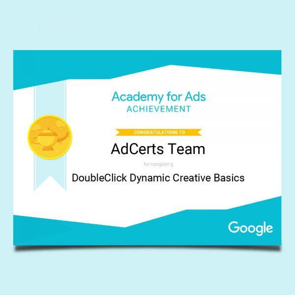 Academy for Ads Achievement DoubleClick Dynamic Creative Basics Certification