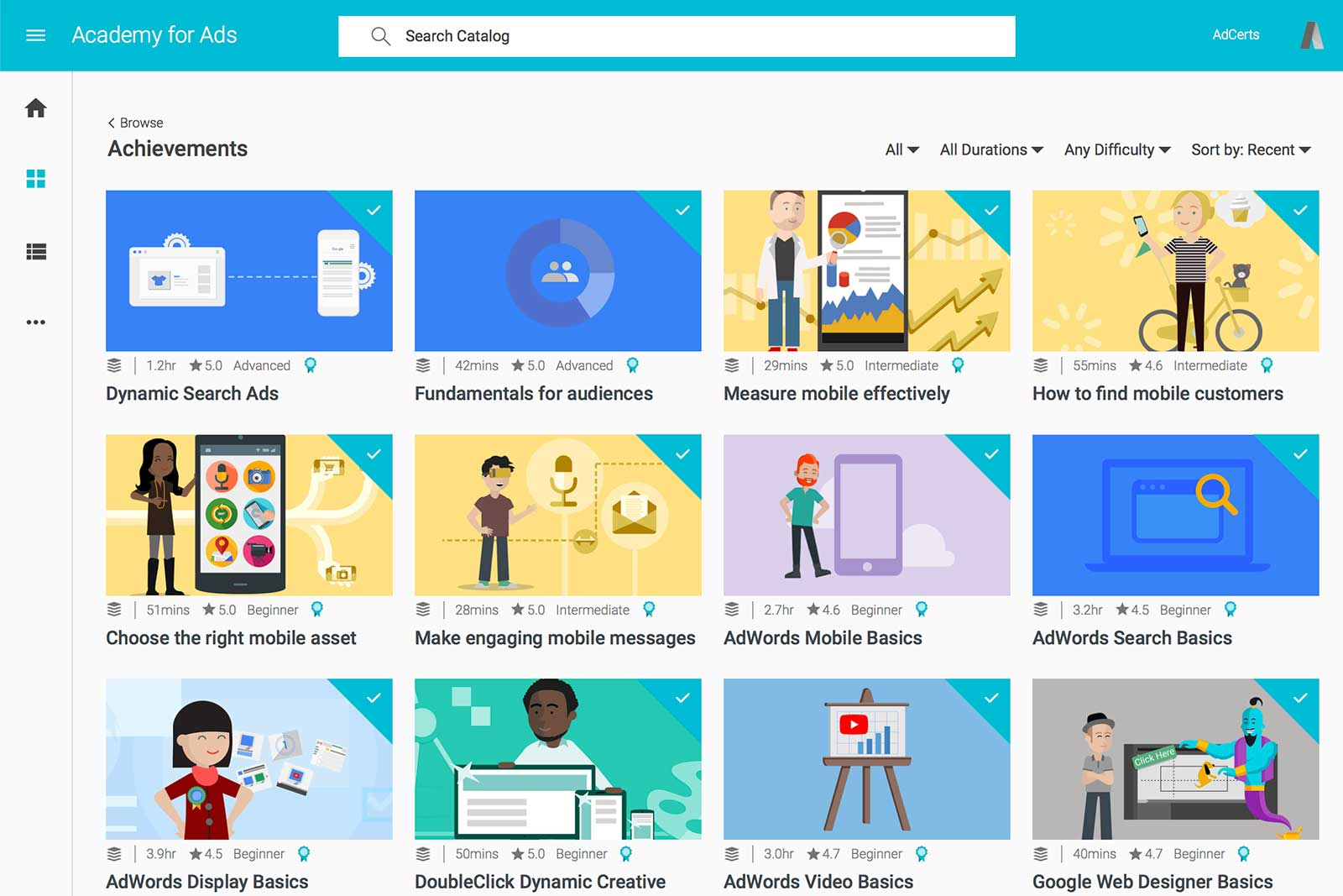 Google Academy for Achievements Library by AdCerts