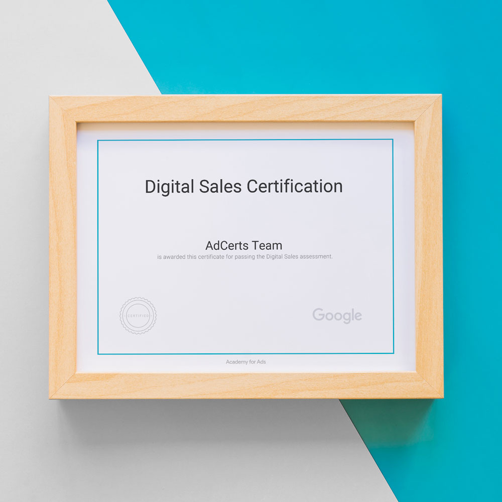 Academy for Ads - Google AdWords Digital Sales Certification Answers