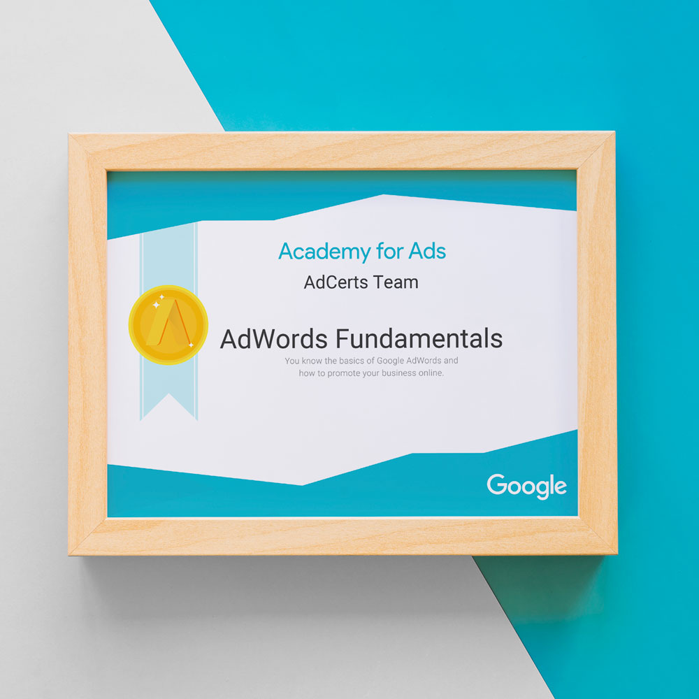 Academy for Ads - Google AdWords Fundamentals Certification Answers