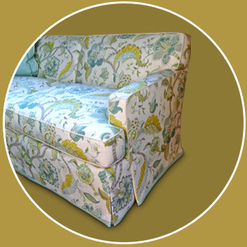 After reupholstery by Addison Interiors located in Addison, IL and serving Chicago, IL.