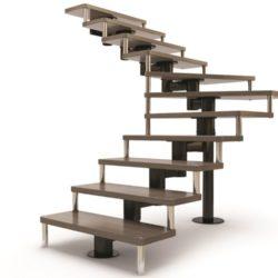лестница на цепном косоуре 1