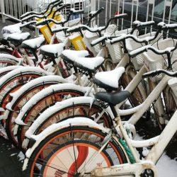 велосипеда зимой