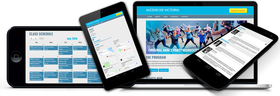 Jazzercise Websites - Instructor Websites - Adedia