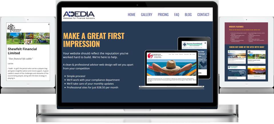 Websites for Financial Advisors - Adedia