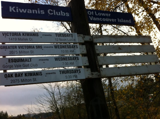 Kiwanis Clubs Victoria Sign Post