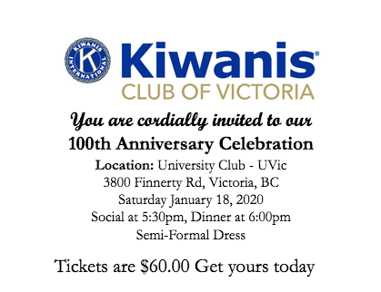 Kiwanis Club of Victoria 100th Anniversary