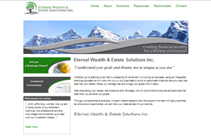 Eternal Wealth - Financial security advisor website by Adedia