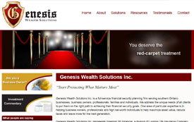 Genesis Wealth Solutions - webiste by Adedia