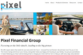 Pixel financial advisor website by Adedia - Victoria BC