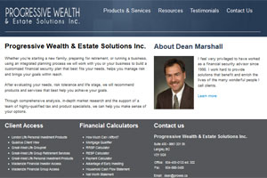 Dean Marshall - a financial advisor site by Adedia - Vancouver BC