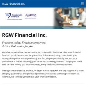 RGW Financial - Pembroke - Ontario  - Freedom 55 Financial