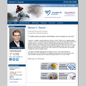 Werner Duever - London - Ontario  - A Freedom 55 Financial Security Advisor website by Adedia